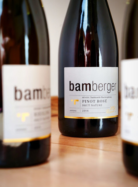 Pinot Rosé brut nature Sekt aus dem Gut Bamberger
