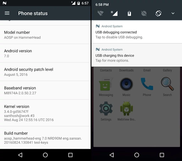 Android 7.0 Nougat For Nexus 5 Device