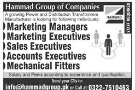 Hammad Group of Companies Jobs