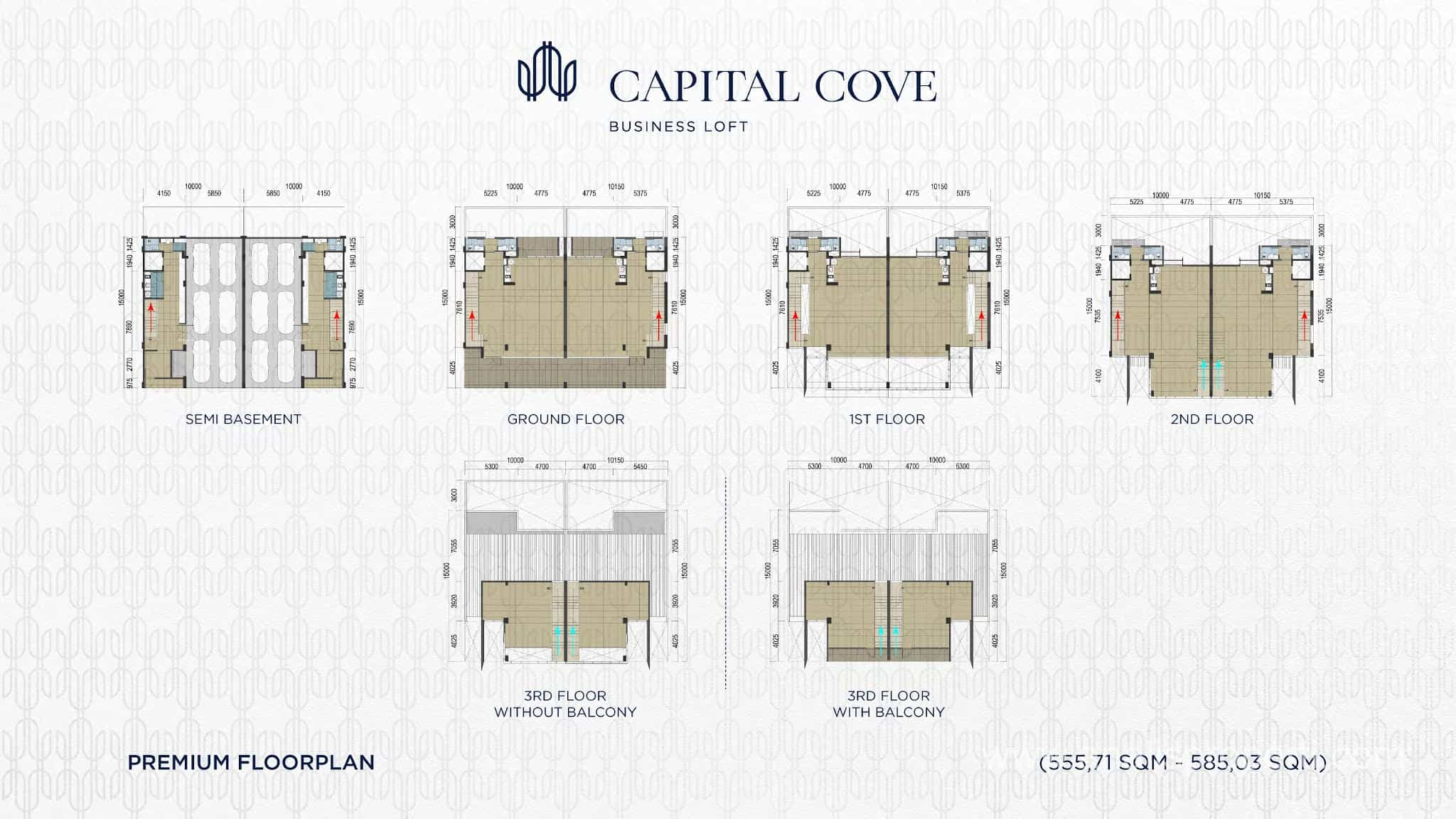 Denah Capital Cove Tipe Premium