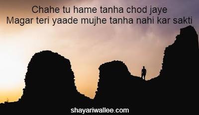 tanha shayari two lines