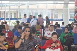 Rombongan PWI Sulsel,Dari HPN Ke-72 di Bandara Pattimura Ambon