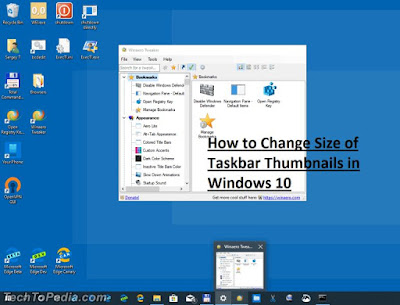 How to Change Size of Taskbar Thumbnails in Windows 10