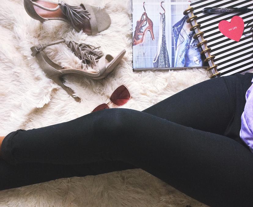 Me Day Steve Madden Fringe Sandal Heels Fashion Faux Fur Rug