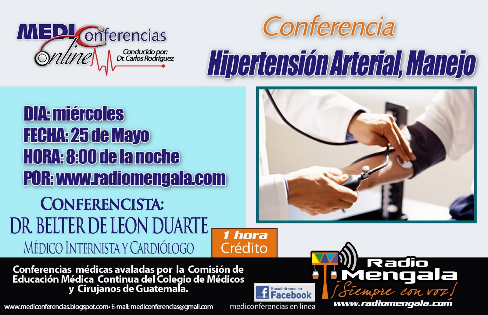 "MEDIconferencias Online: ""HIPERTENSION ARTERIAL, MANEJO.."
