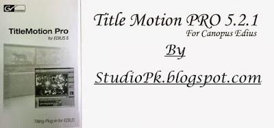 Title Motion Pro 5.2
