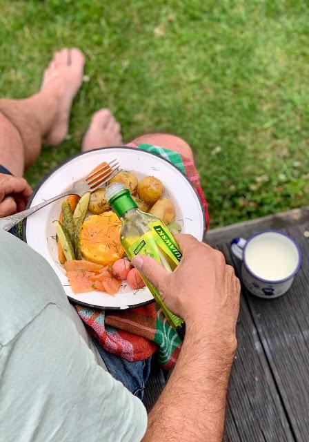 miska, ziemniaki, bowl, jajko, buddha bowl, losos, obiad, bernika, kulinarny pamietnik
