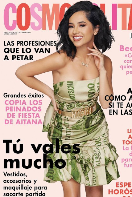 Becky G Featured in Cosmopolitan Magazine  - Spain January 2020