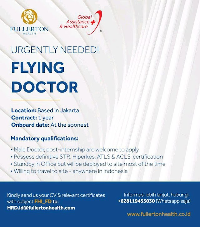 Urgently Needed! Flying Doctor Based in Jakarta