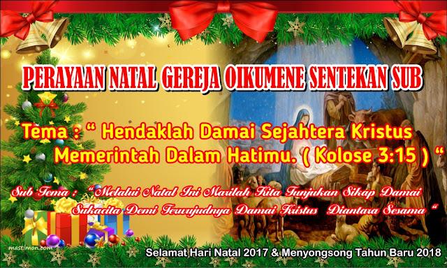 tema natal 2018 Contoh BANNER Natal 2017 lengkap dengan Tema dan Sub Tema tema natal 2018