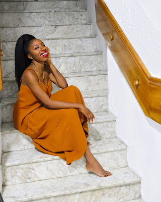 Happiness in beautiful nigerian woman