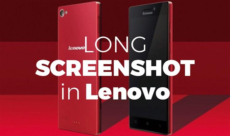 Cara Screenshot Panjang HP Lenovo