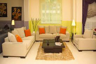 warna cat ruang tamu 2 warna yang cerah