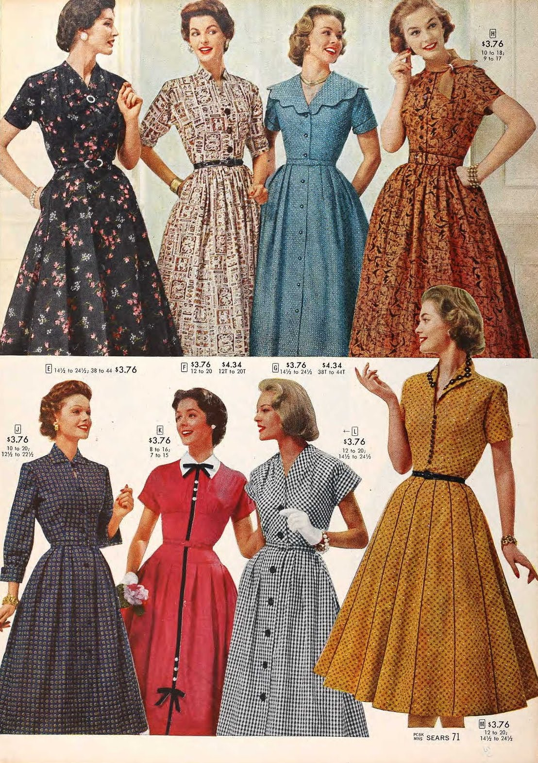 40s Style With M Co And Me: Snapped Garters: 1957 Fashions -- IN COLOUR