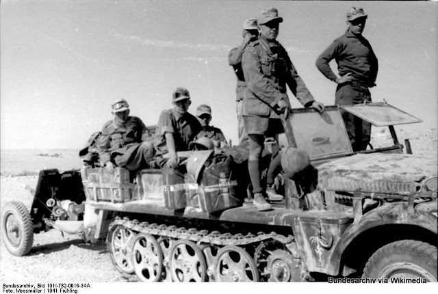 21 March 1941 worldwartwo.filminspector.com Afrika Korps halftrack