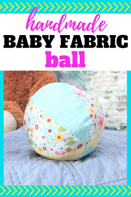 Create these simple baby fabric balls for a fun gift for that sweet little one in your life.  Create a couple and you'll have some perfect handmade baby toys