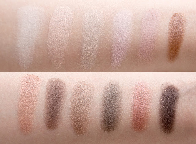 Maybelline The Blushed Nudes swatches
