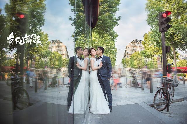 巴黎婚紗照香榭麗榭大道攝影師自主婚紗海外旅拍