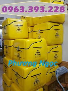 Thùng vận chuyển rác thải y tế, thùng chở chất thải y tế sau xe máy 0bb82b78ce452c1b7554