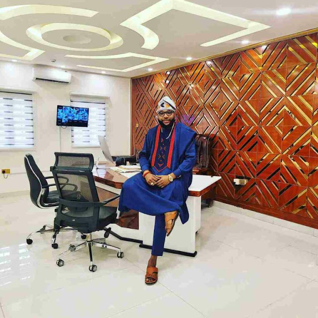 E-Money Shows Off His Well-furnished Multi-million naira Office Interior (Watch Video)
