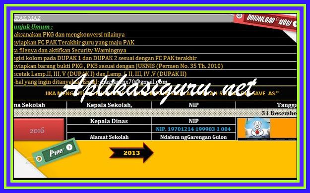 Download Aplikasi DUPAK Terbaru Versi 2017