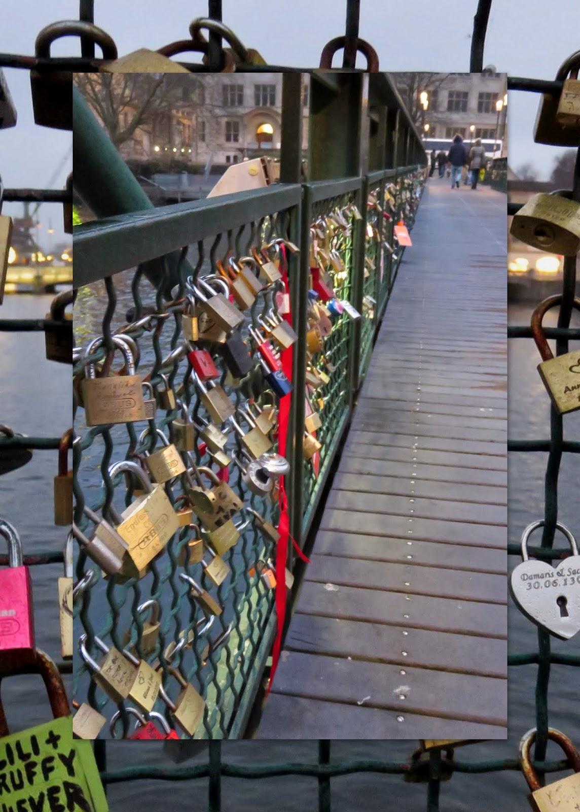 Zurich - Love locks on the bridge
