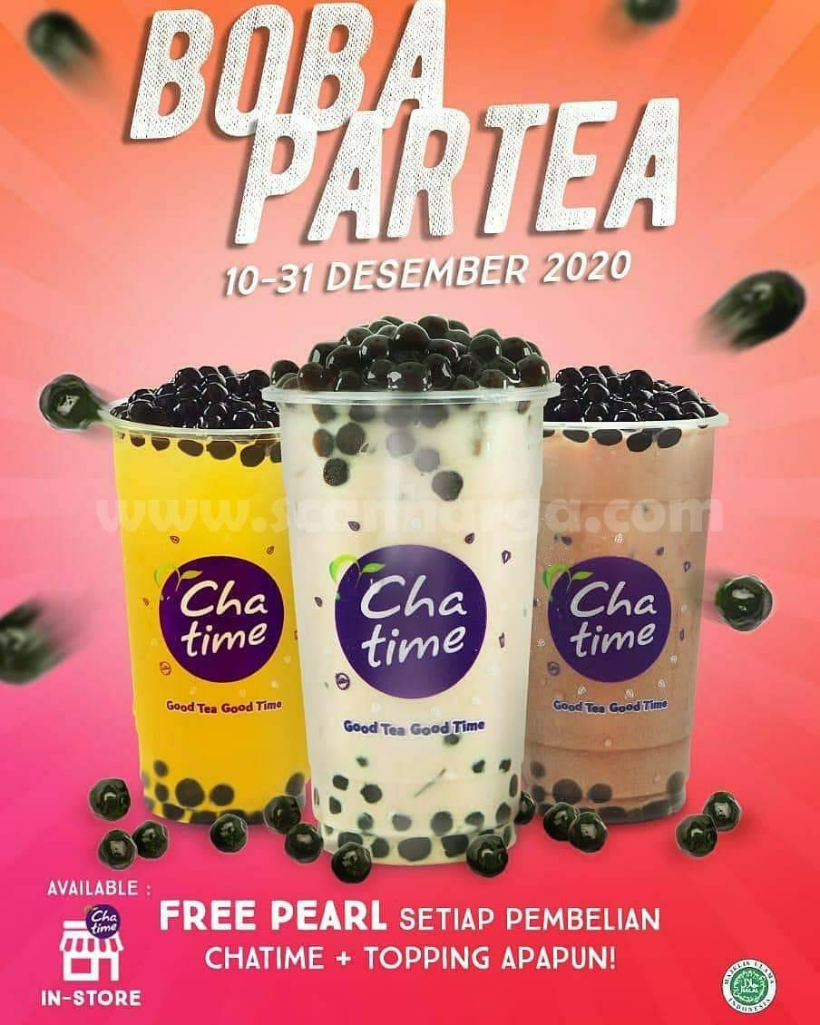 Chatime Promo BOBA PARTEA 10 - 31 Desember 2020