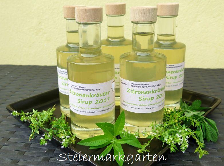 Zitronenkräuter-Sirup-Steiermarkgarten