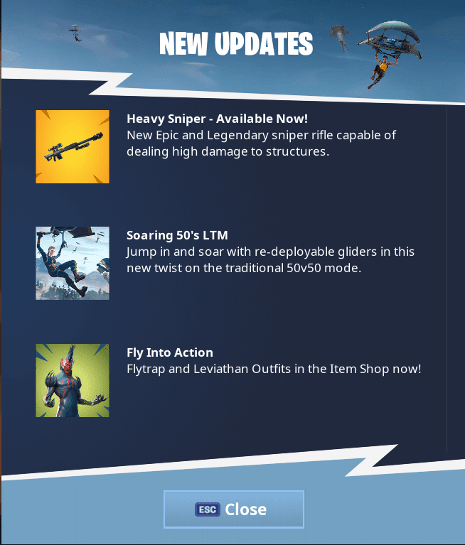 'FORTNITE' Update 5.21 | Heavy Sniper Rifle And Soaring 50's