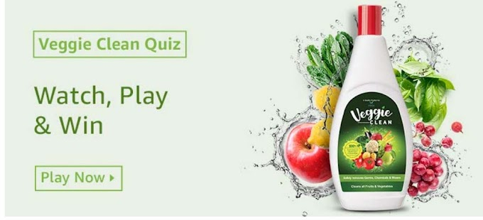 Amazon Veggie Clean Quiz Answers for Today Win Rs.10,000