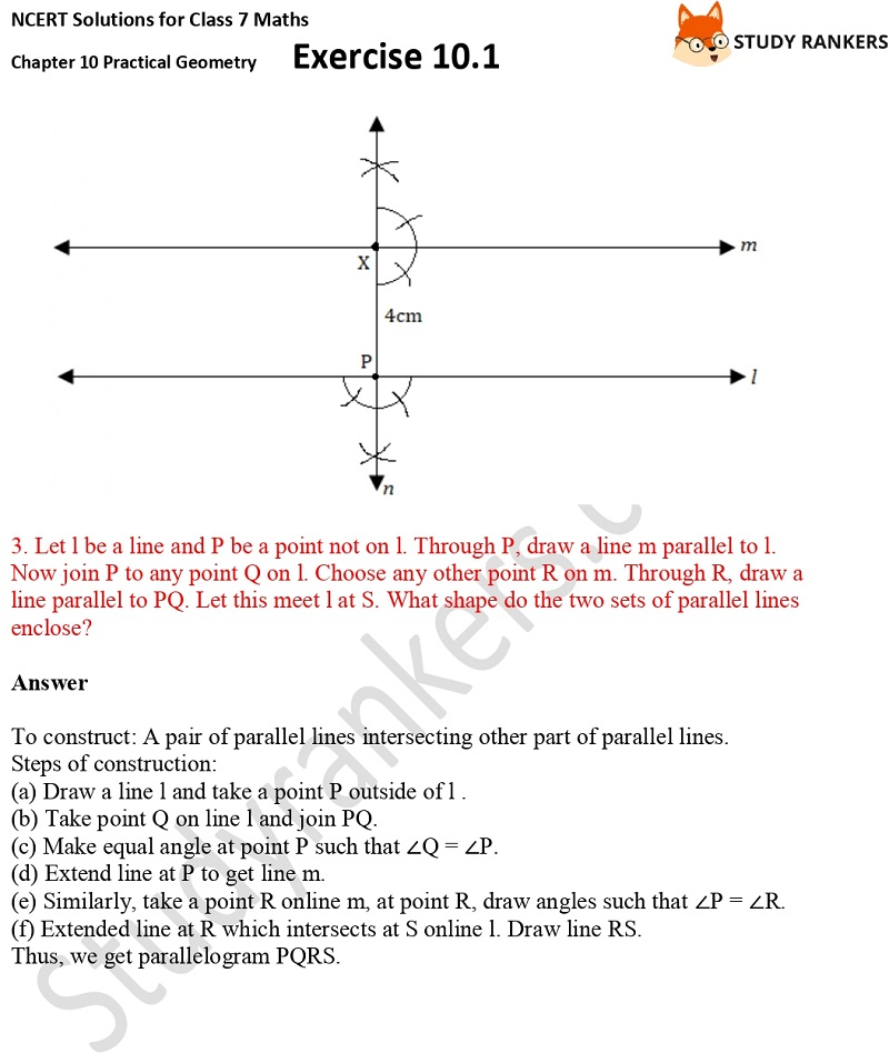 NCERT Solutions for Class 7 Maths Ch 10 Practical Geometry Exercise 10.1 2