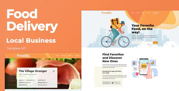 Best Food Delivery Elementor Template Kit