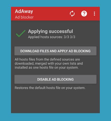 Status AdAway Android