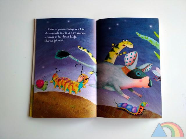 Interior del libro Maria Llufa de la serie blanca de El Barco de Vapor