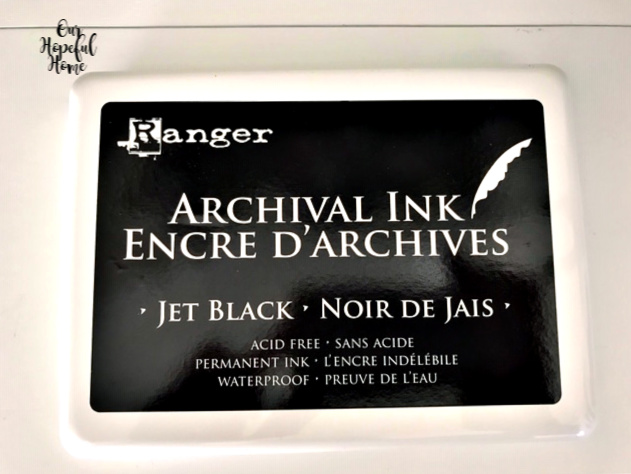 Ranger Archival Ink extra large jet black permanent waterproof ink pad acid free