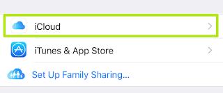 Tap iCloud