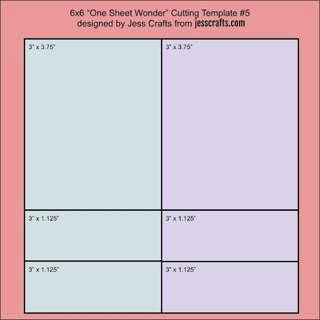 6x6 One Sheet Wonder Template #5 by Jess Crafts