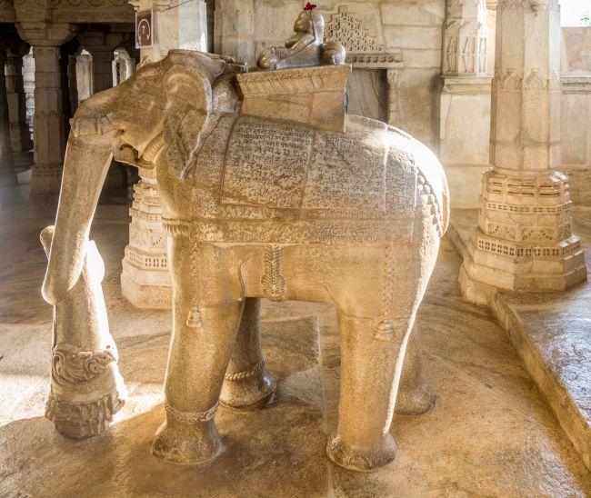 Maru Devi sitting atop elephant