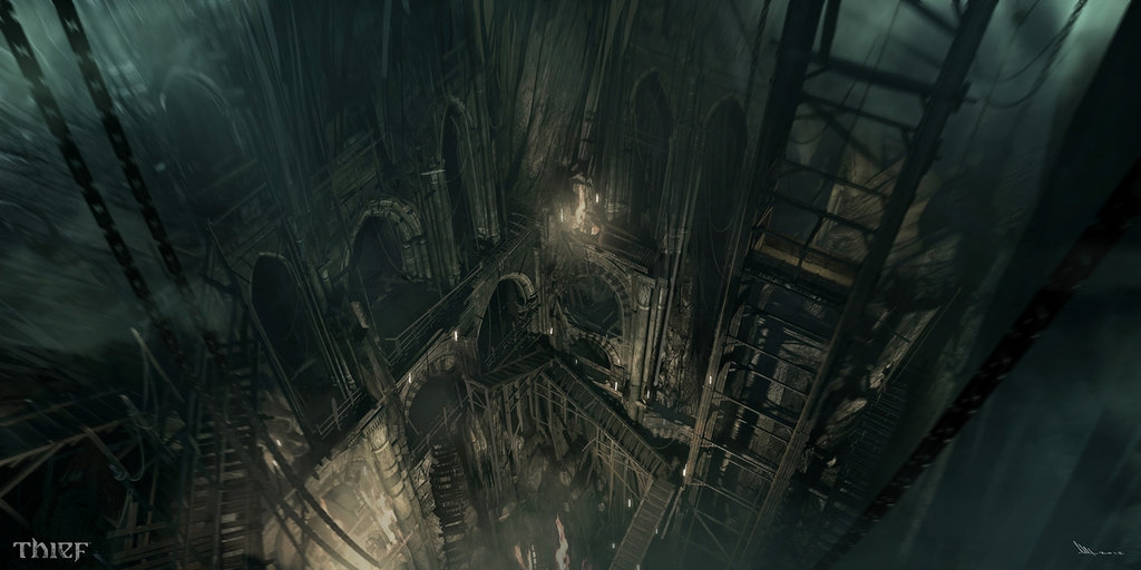 12-The-Descent-Mathieu-Latour-Duhaime-Concept-Art-for-Thief-Steampunk-feel-Video-Game-www-designstack-co