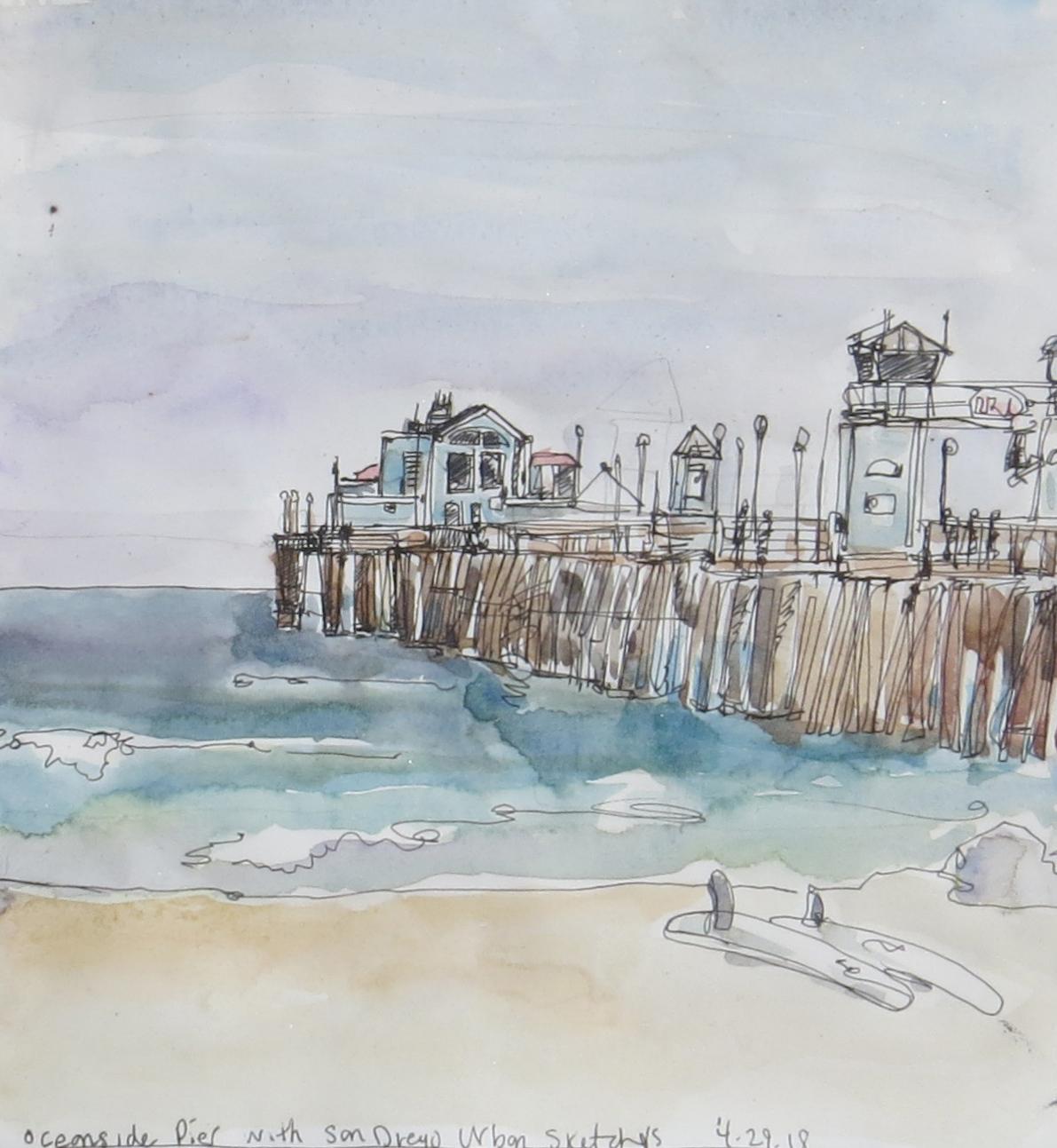 Oceanside Pier, with San Diego Urban Sketchers | Urban Sketchers