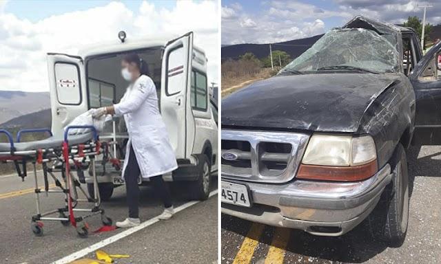 Acidente na Chapada Diamantina deixa três feridos