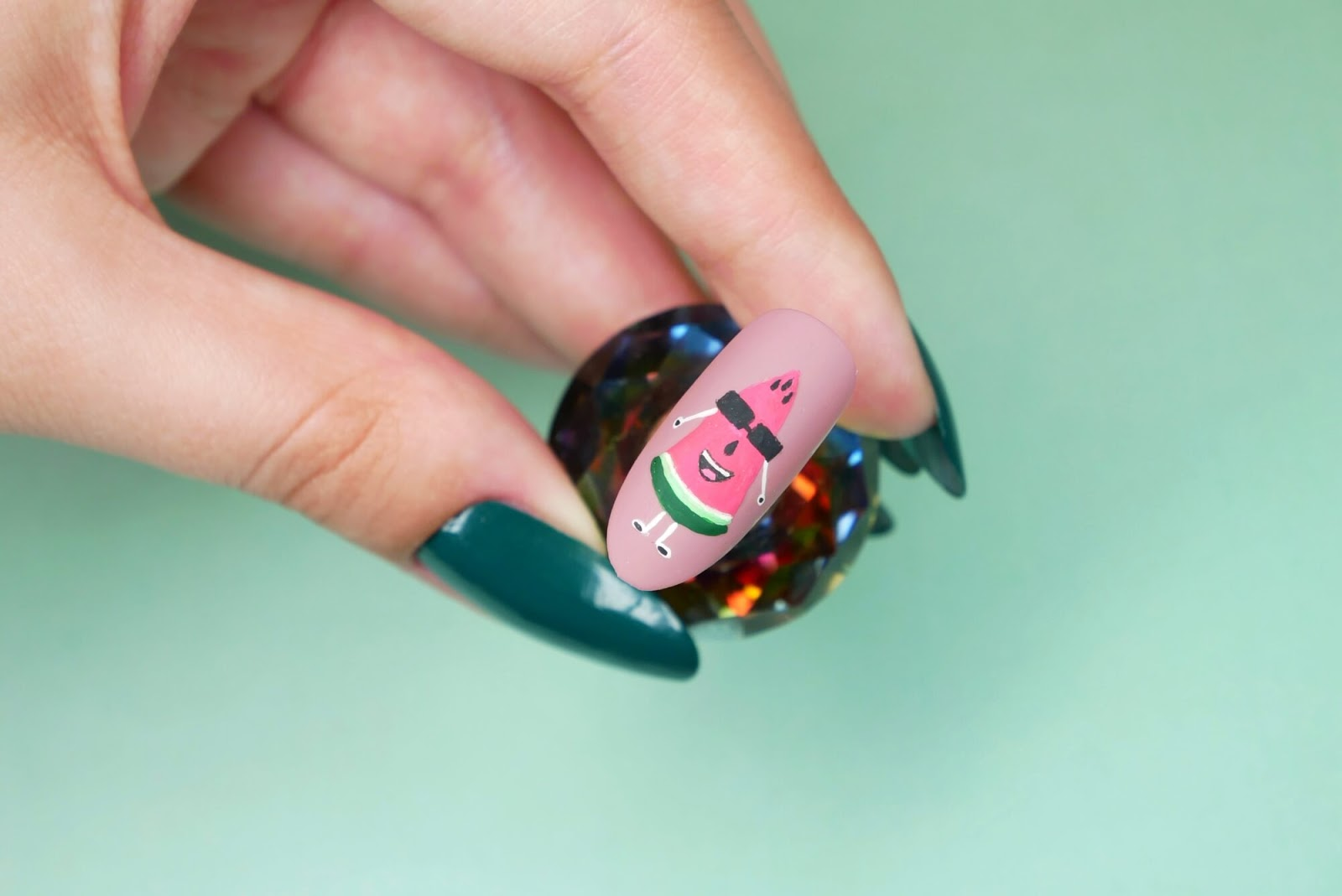 arbuz paznokcie