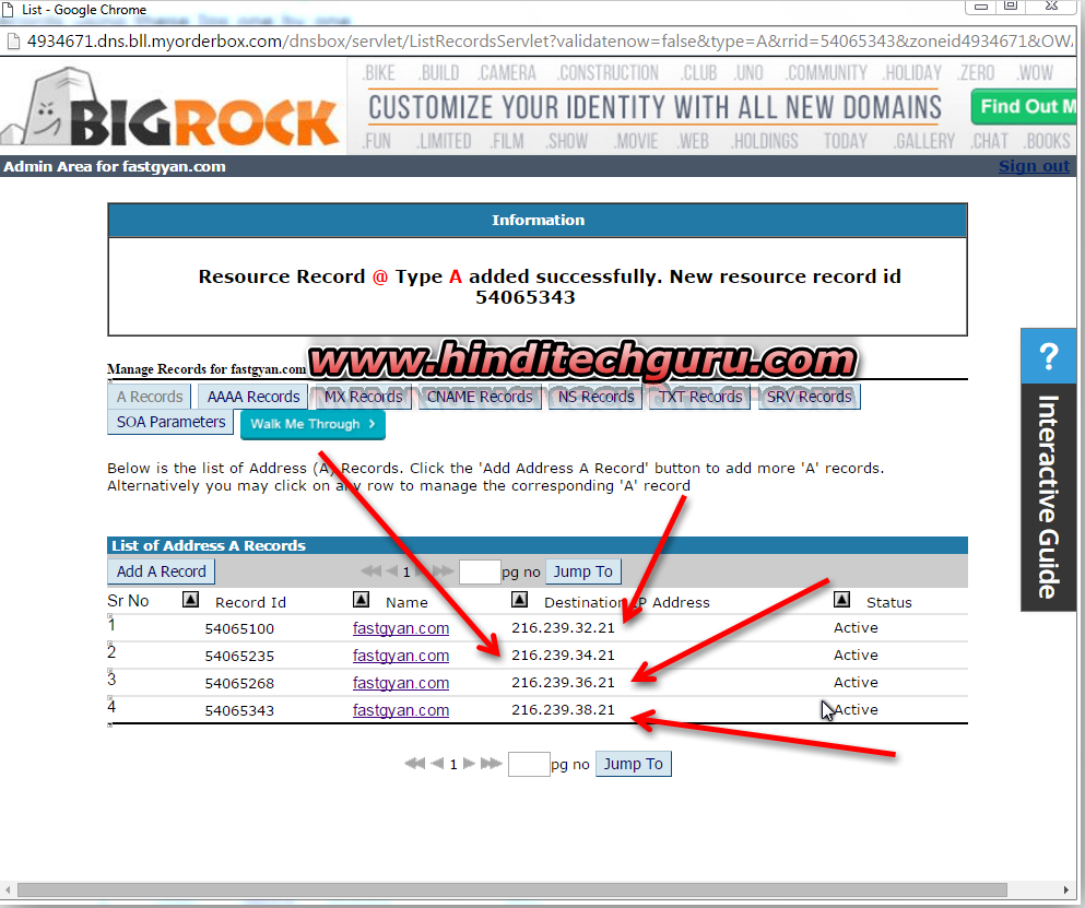 how to add custom domain to blogger bigrock
