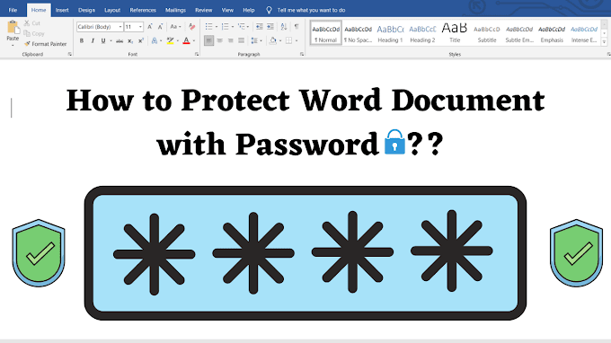 How to Protect Word Document with Password in Hindi   Word Document पर पासवर्ड कैसे लगाए ??