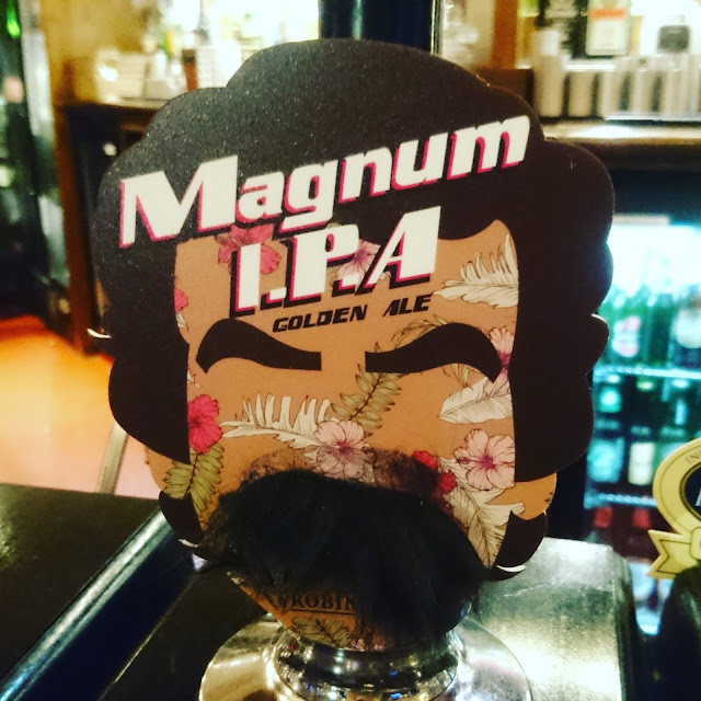 Cheshire Craft Beer Review: Magnum IPA from Robinsons real ale pump clip