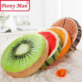 almofada fatias de fruta