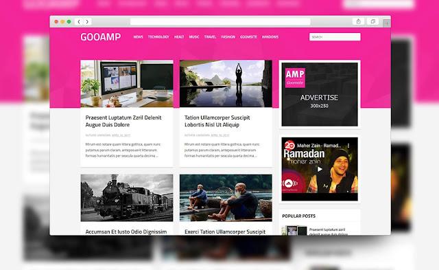 kumpulan template blogger amp