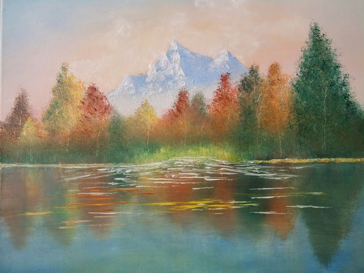 oil on canvas paintings, oil paint technique, oil paintings, landscape paintings, scenery paintings, mountain painting,