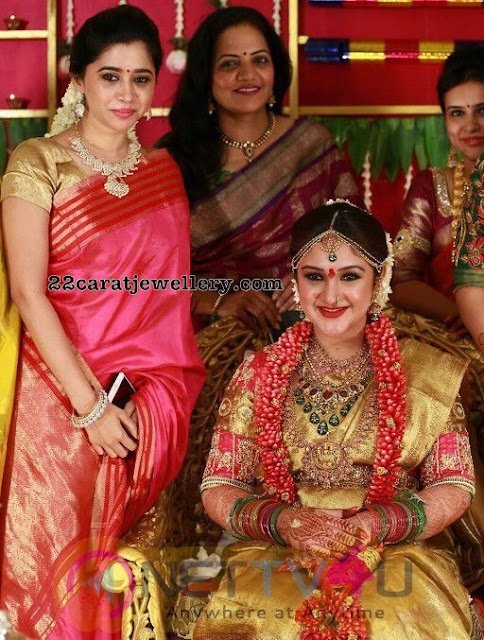 Sridevi Rahul Temple Jewellery