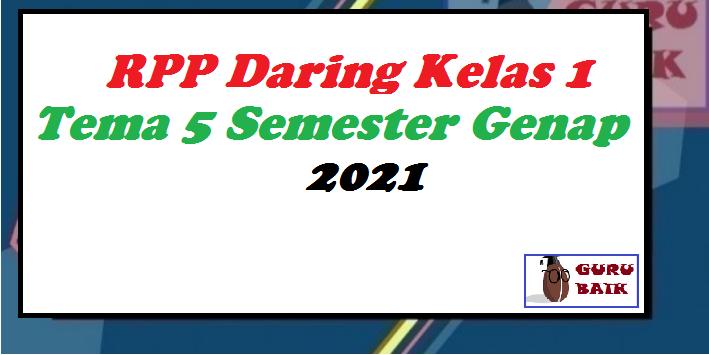 gambar rpp daring kelas 1 tema 5